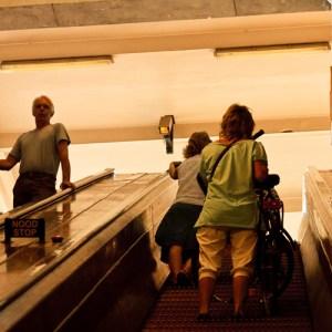 Эскалатор пешеходного туннеля под Шельдой