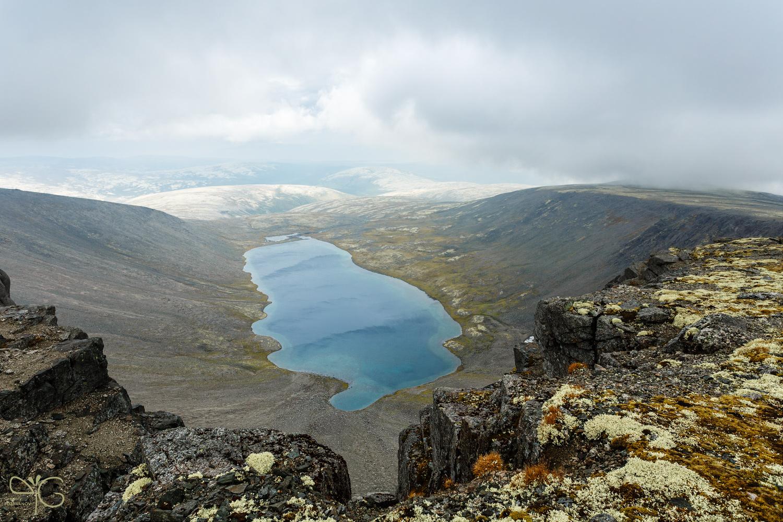 Озеро Академическое в облаках