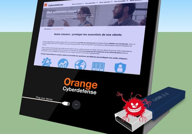 Терминал Orange «очищает» флеш-накопители от вирусов.