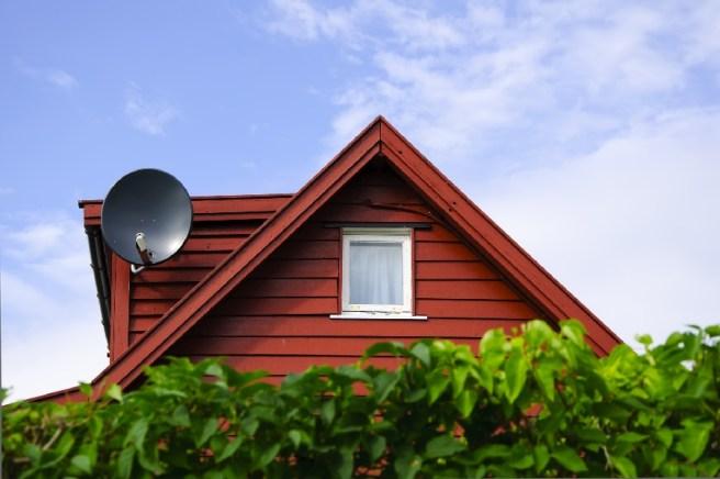 домик с антенной