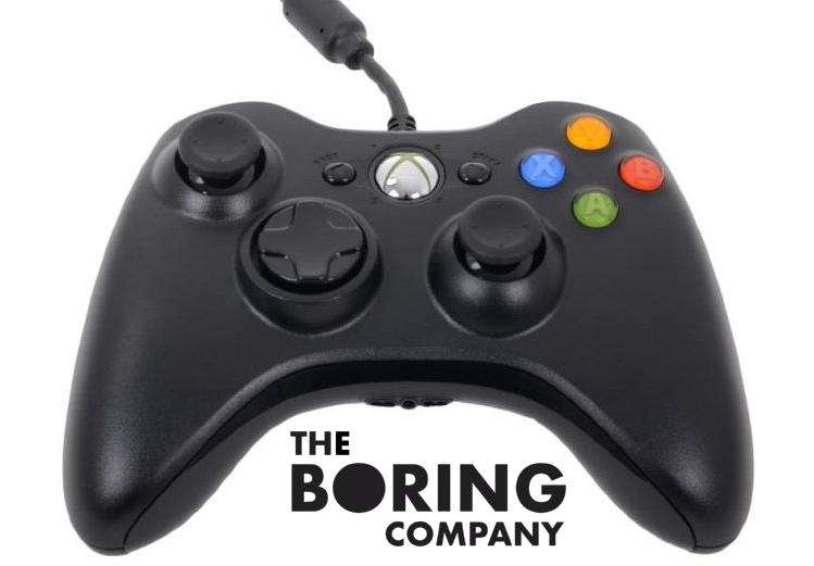 Контолер Xbox стал штатной частью землеройной машины Boring Company.