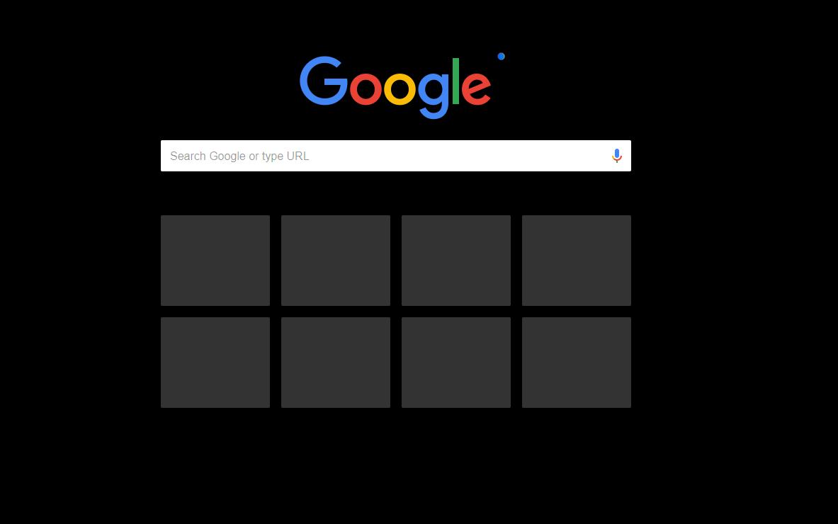 Google Chrome станет темным