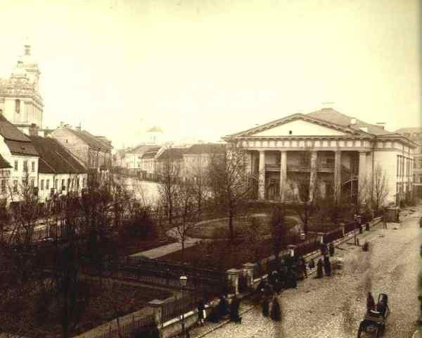 Stare Wilno. Ulica Wielka (w stronę ulicy Ostrobramskiej i Kaplicy Ostrobramskiej)