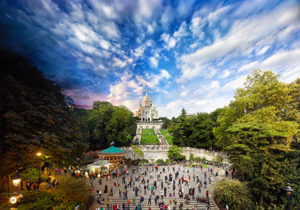 Католический храм Сакре-Кёр, Париж, Франция.
