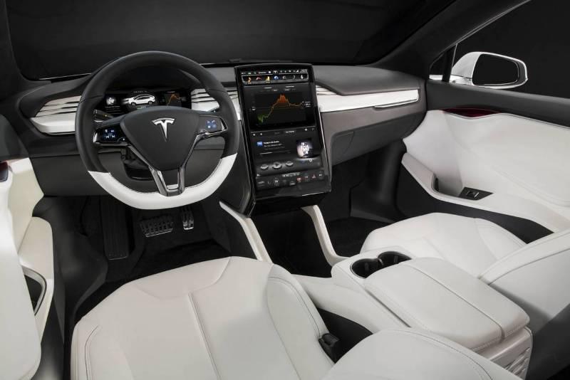 Салон новой Тесла модель Х.
