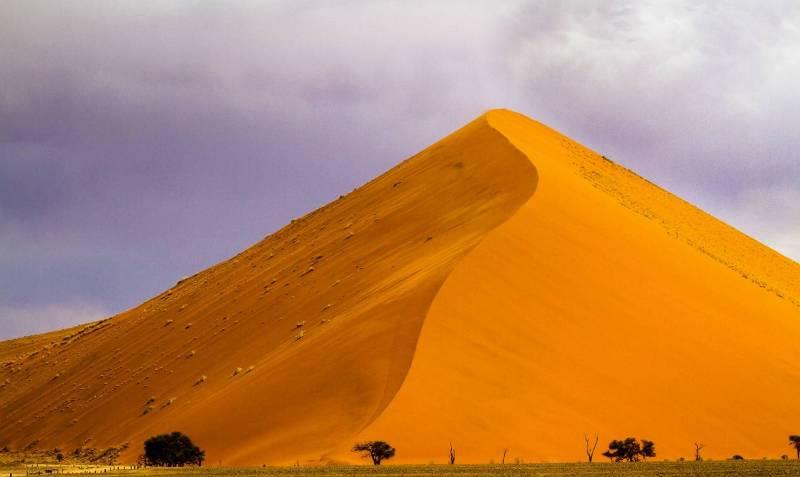 Самая высокая дюна в мире, пустыня Намиб.