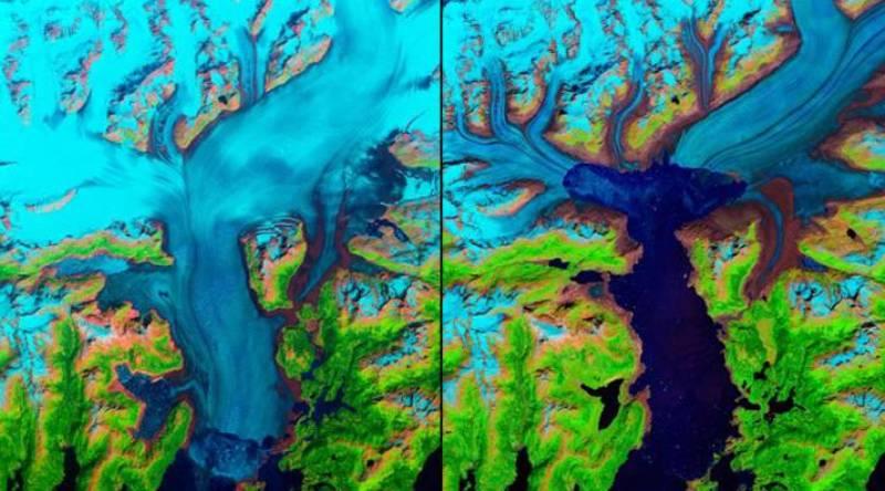 ледник колумбия тает