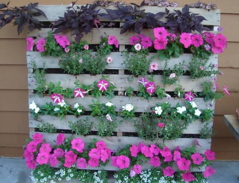 Деревянные паллеты цветы