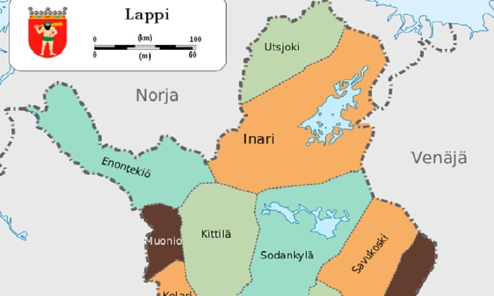 карта Финляндии, Лапландия