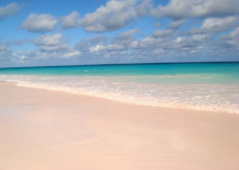Пляж на Багамах.
