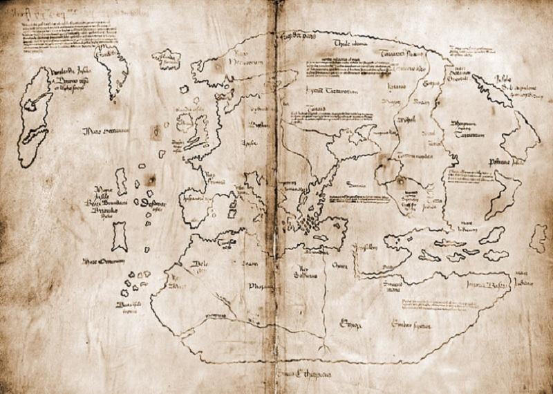 Историческая карта земли Винланд. Фотоисточник
