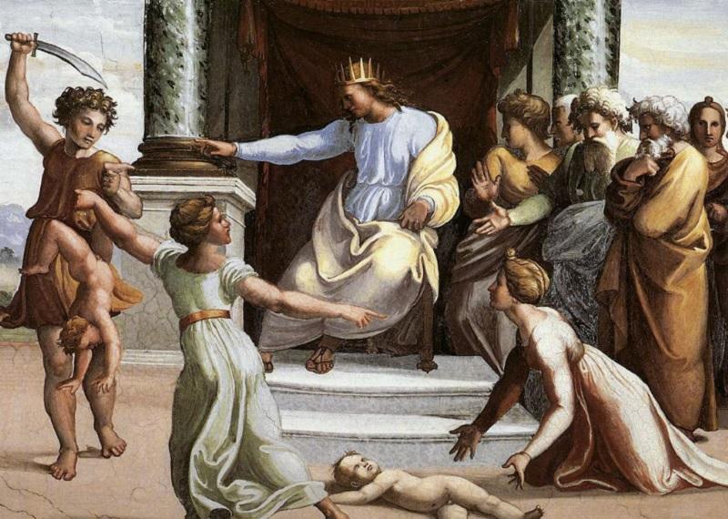 Соломонов суд фреска, Соломоново решение, царь Соломон
