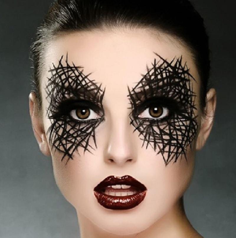 Человек-паук, образ на Хэллоуин, простой макияж на Хэллоуин