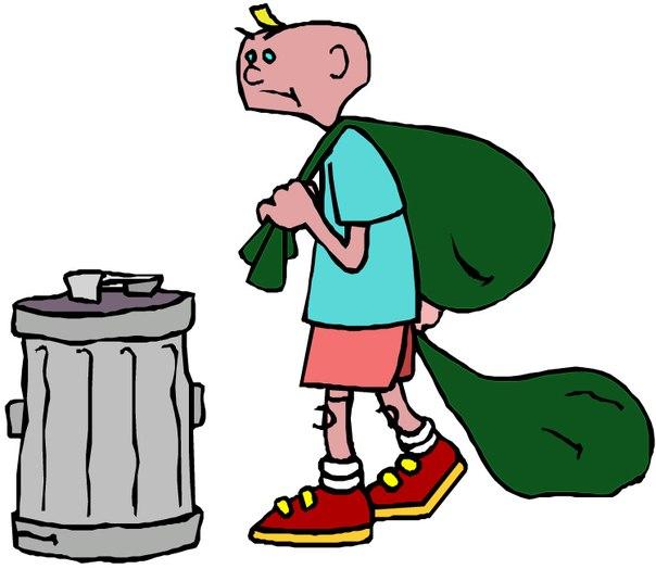 Пасха. В среду выносят накопившийся мусор.