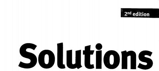 Solutions Elementary Есть Ли Ответы На Учебник