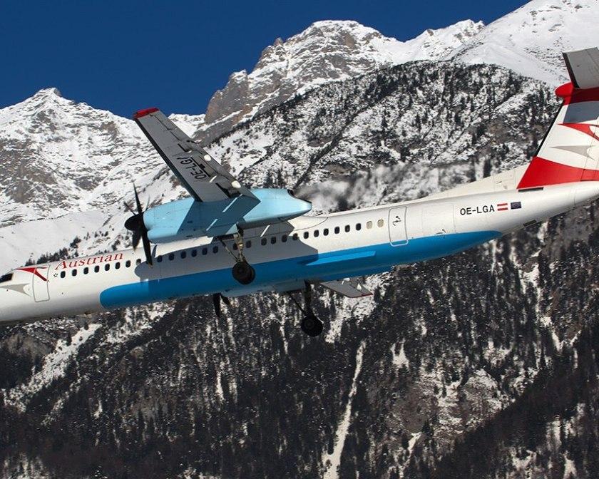 Самолет готовится к посадке