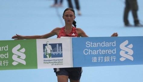 Белоруска Ольга Мазурёнок, с рекордом трассы, победила на марафоне в Гонконге