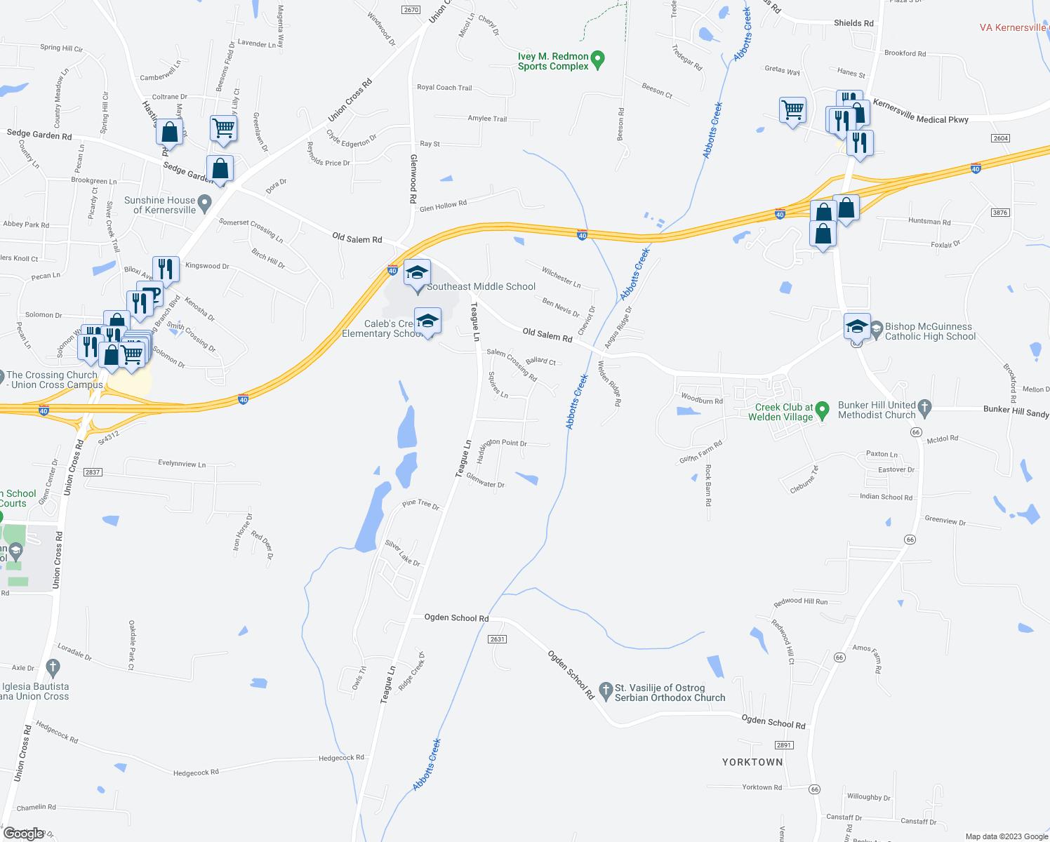 Map Downtown Kernersville Nc