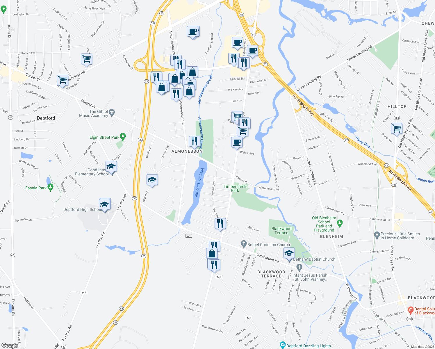 Restaurants Near Me 08096