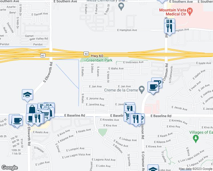 9558 East Jan Avenue Mesa AZ  Walk Score