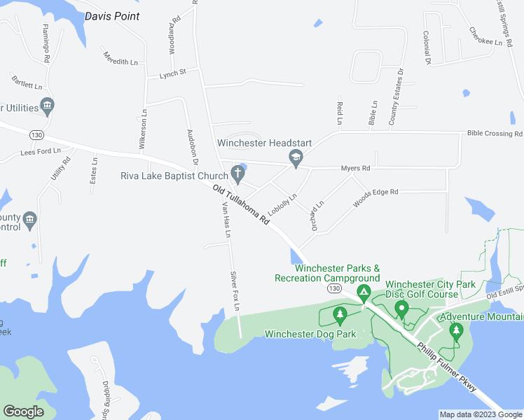 Map Tn Street Tullahoma