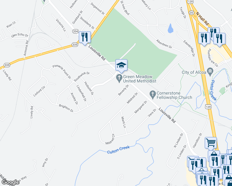 972 Beverly Drive Alcoa TN  Walk Score