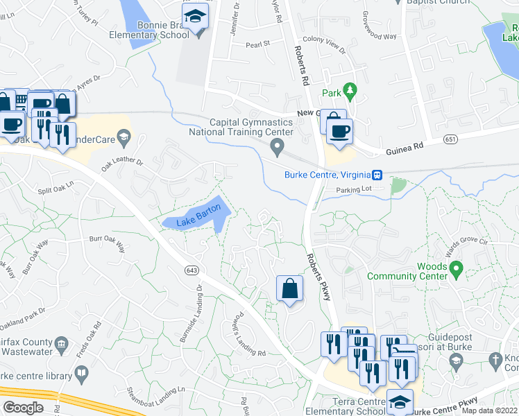 Virginia Burke Northern Road Va Map