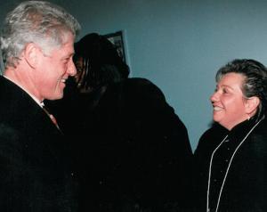 Patti with Bill Clinton