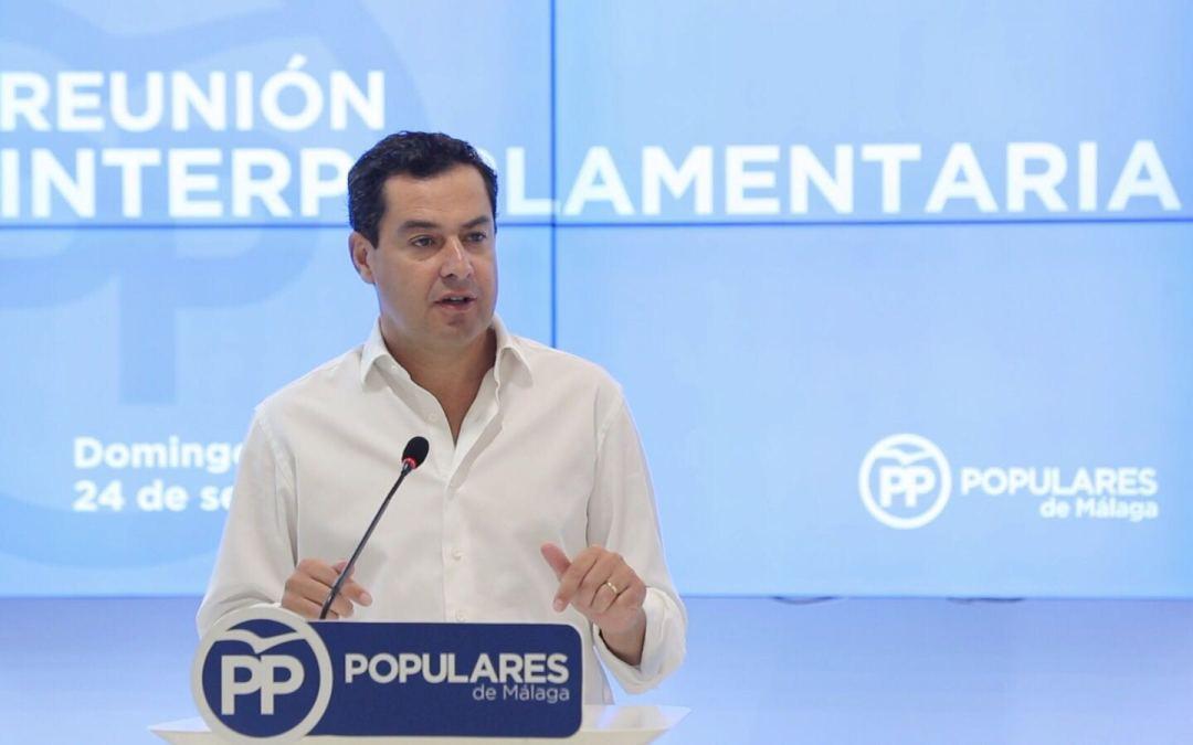 """Juanma Moreno: """"Andalucía es un contrapeso para cualquier delirio independentista en nuestro país"""""""