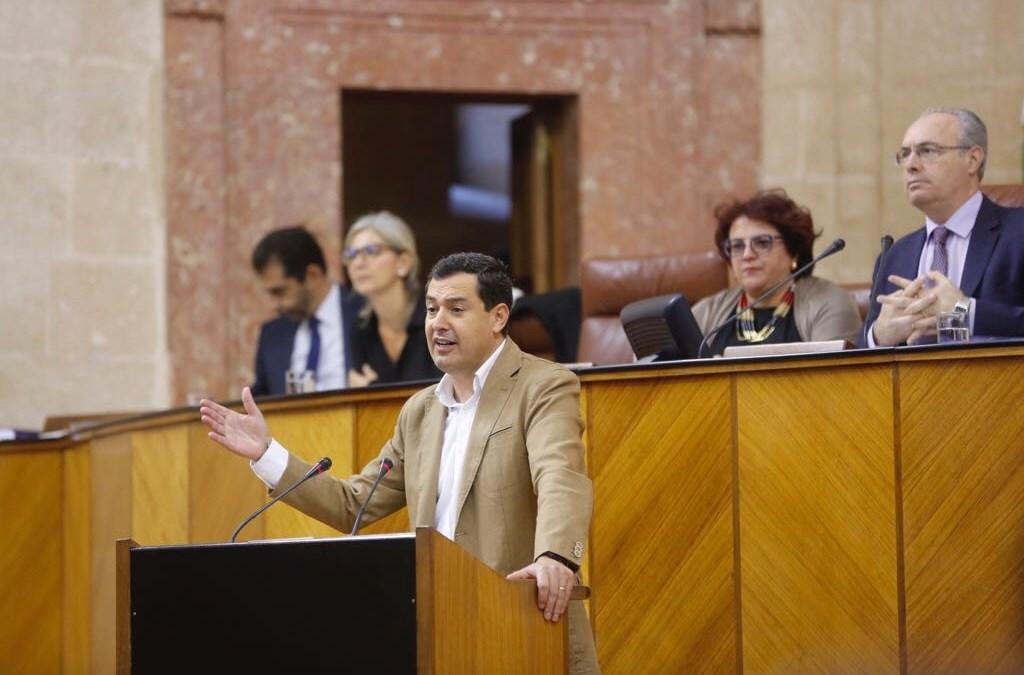 """Moreno mantiene la oferta de diálogo para """"replantear un presupuesto que no responde a los problemas de Andalucía"""""""