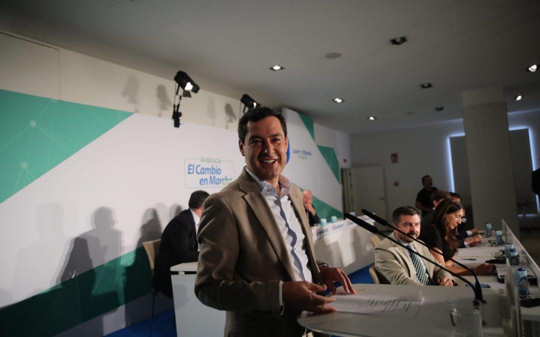 """Moreno: """"Tengo sitio para que el PSOE nos acompañe a pedir a Sánchez una solución para los 1.350 millones"""""""