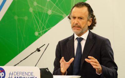 """Venzal: """"Montero miente a los andaluces, a quienes destina 261€ por habitante en vez de los 340€ que les corresponden de fondos covid"""""""