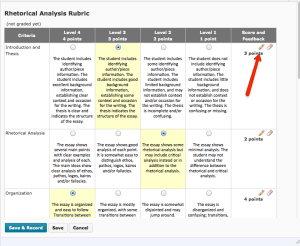 Scoring with a rubric