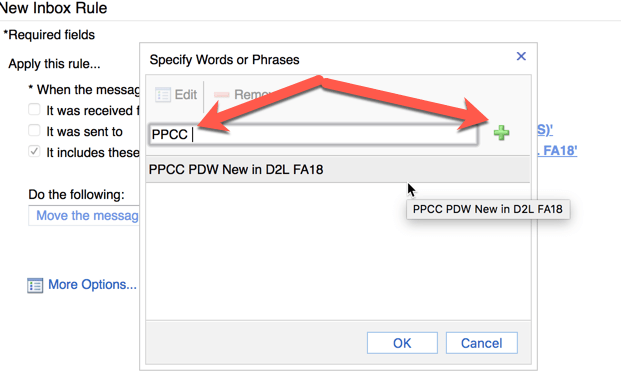 Adding PPCC to the subject filter