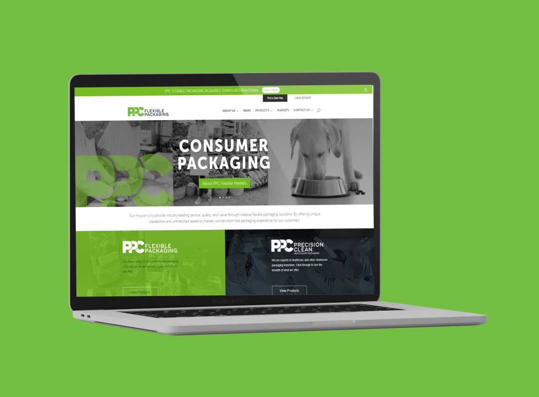 PPC Flexible Packaging ™ launches new website as part of company rebrand