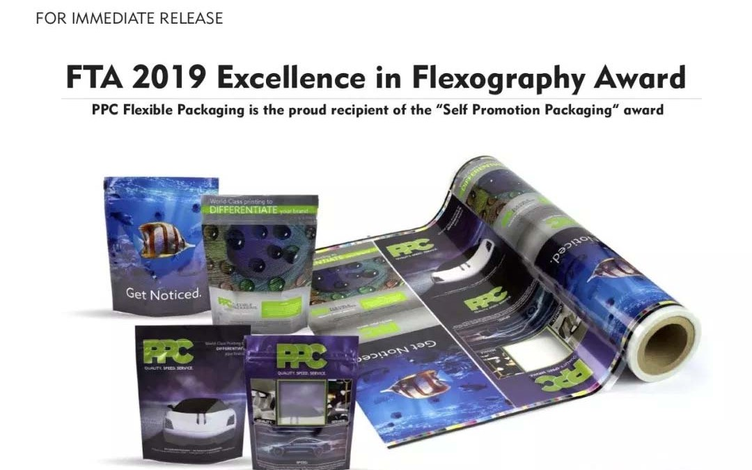 "PPC Flexible Packaging ™ is the proud recipient of the ""Self Promotion Packaging"" award"