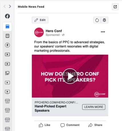 facebook ad preview