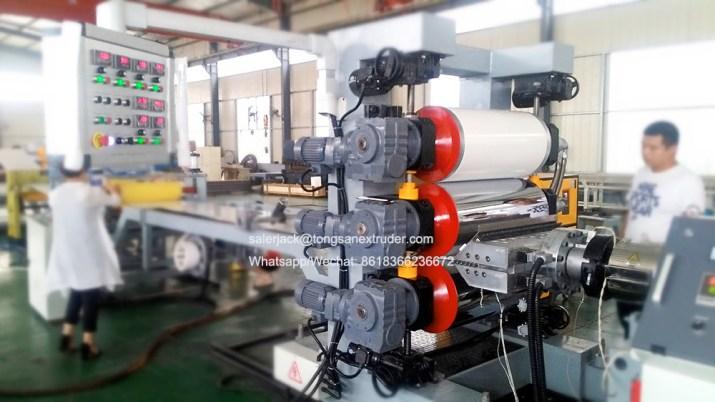 PVC edge banding sheet machine