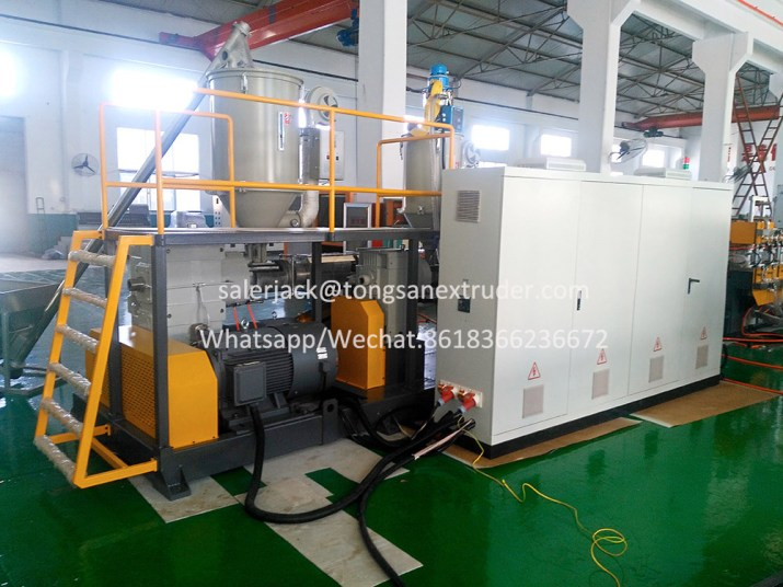 PP corrugated sheet extruder