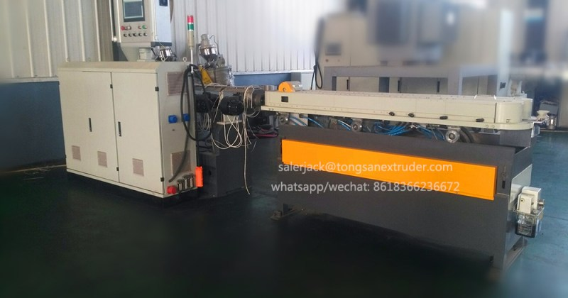 corrugated plastic pipe extruder machine