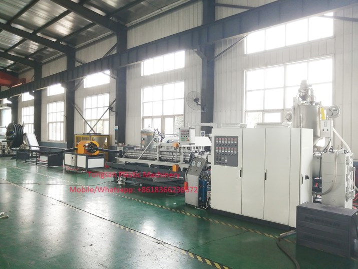 Máquina de tubos corrugados de doble pared de HDPE