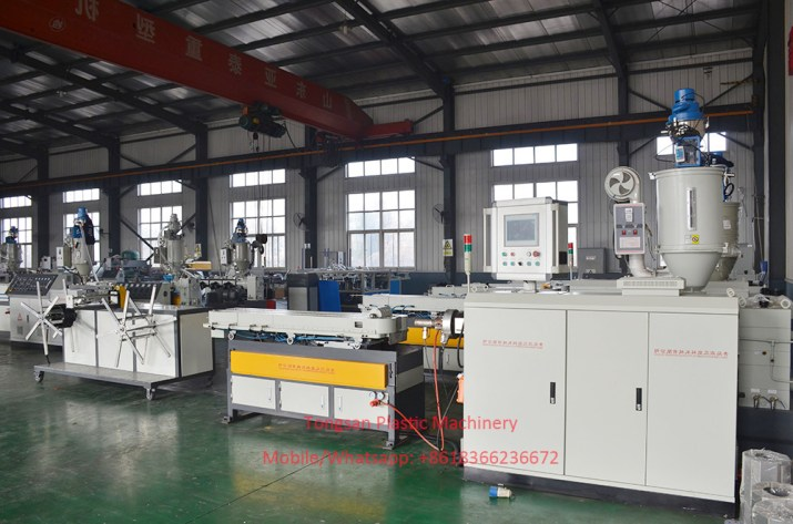PE PP corrugated pipe production line