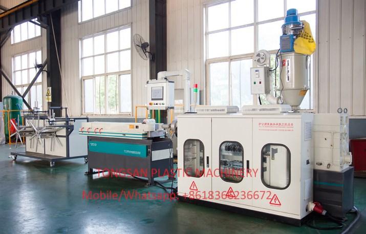 PP PE PVC PA Single Wall Corrugated Pipe Machine