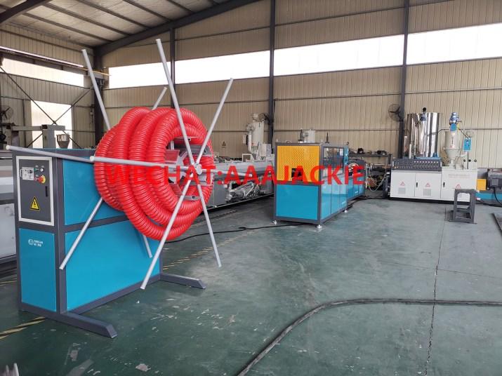 Máy sản xuất ống xoắn cam HDPE