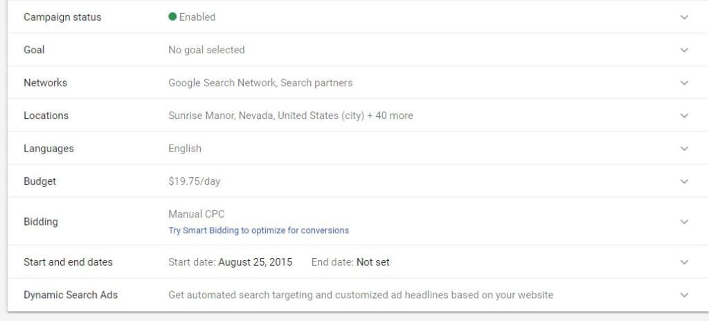 Adwords Optimization Day #1 – The Settings