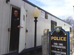 For months, the Pepperell Police Department has operated out of these trailers. Pictured, Chief David Scott
