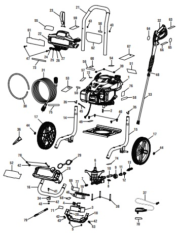 Powerstroke Pressure Washer Parts Diagram : powerstroke, pressure, washer, parts, diagram, POWERSTROKE, PS80314E, POWER, Washer, Replacement, Parts