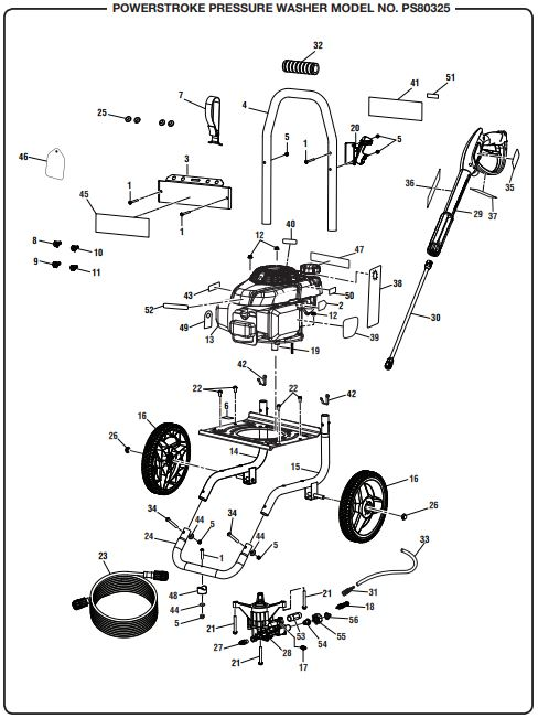 Powerstroke Pressure Washer Parts Diagram : powerstroke, pressure, washer, parts, diagram, POWERSTROKE, PS80325, POWER, Washer, Replacement, Parts