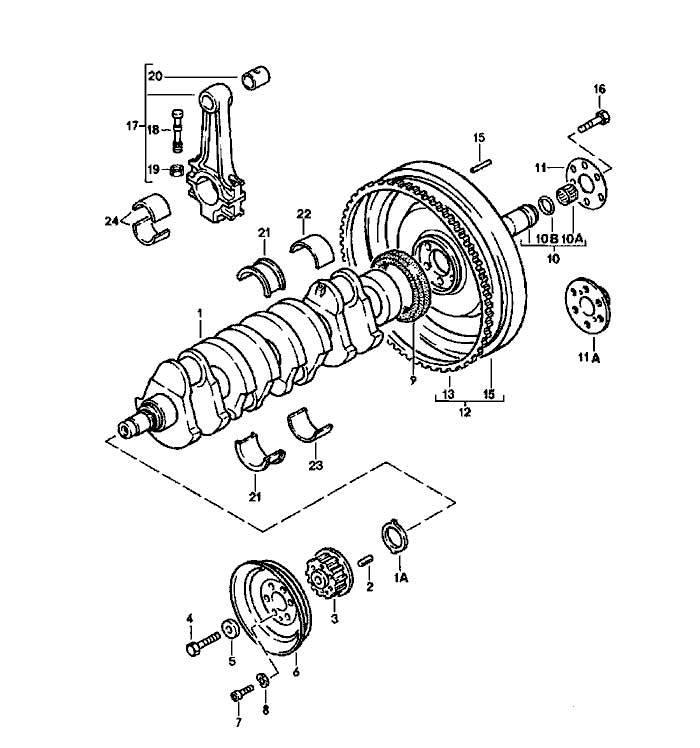 GENUINE PORSCHE 231391 Porsche® Timing Belt Crankshaft