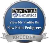 Paw Print Pedigrees Breeder Seal